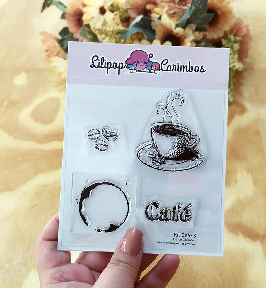 """Cartela de Carimbos - """"Café 3"""" - Lilipop Carimbos   - Lilipop carimbos"""