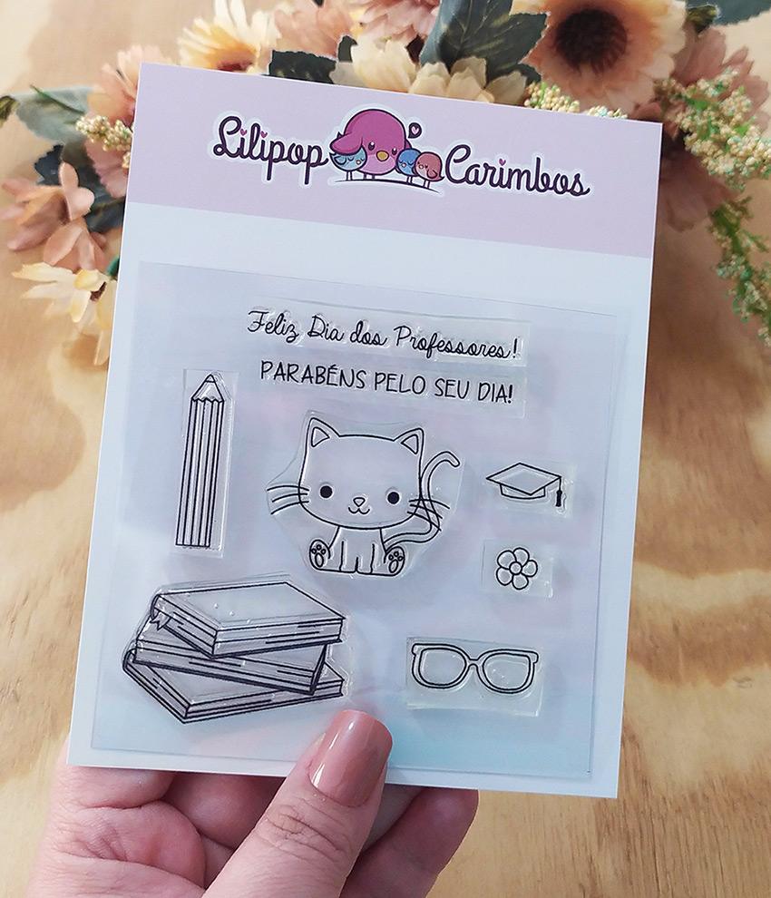"""Cartela de Carimbos - """"Dia dos Professores 2"""" - Lilipop Carimbos   - Lilipop carimbos"""