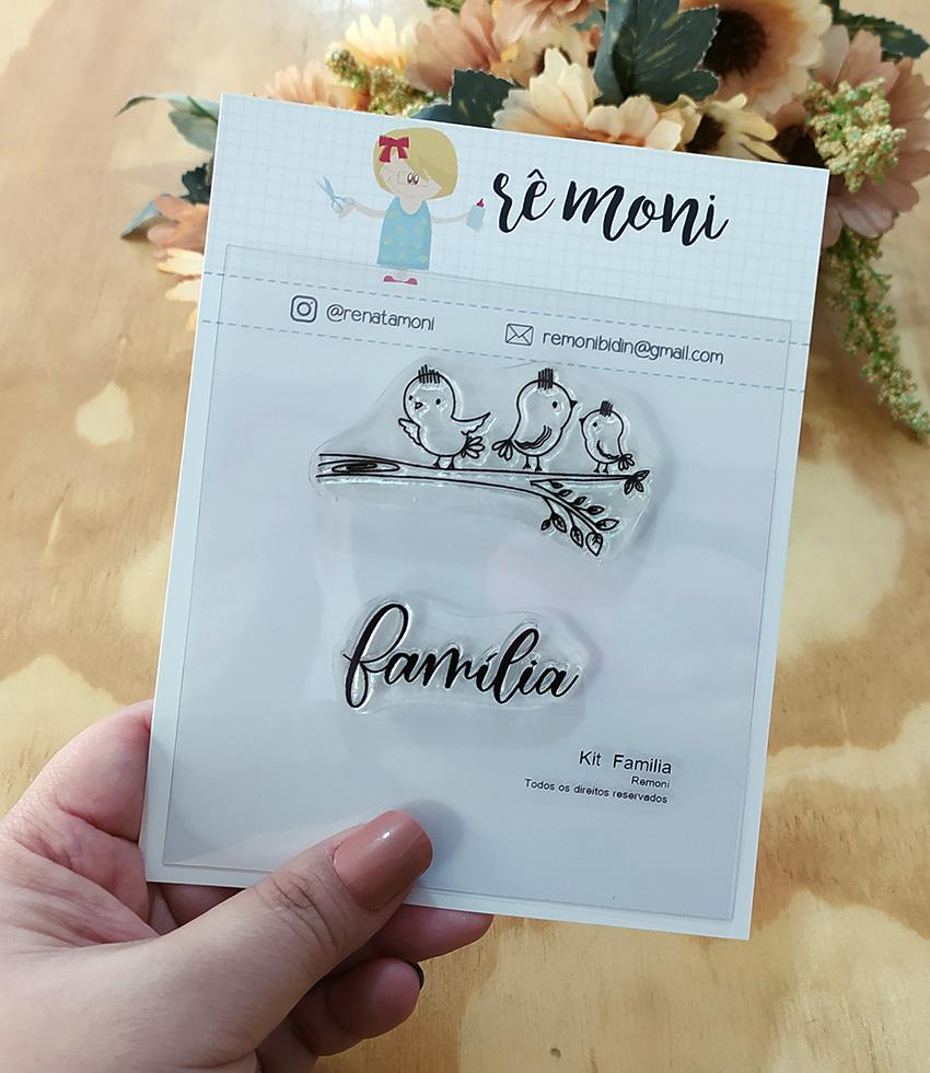 """Cartela de Carimbos - """"Família"""" - Remoni  - Lilipop carimbos"""