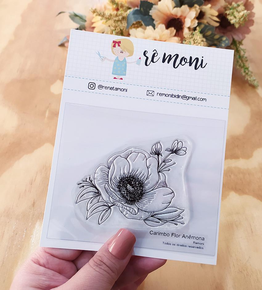 """Cartela de Carimbos - """"Flor Anêmona"""" - Remoni  - Lilipop carimbos"""