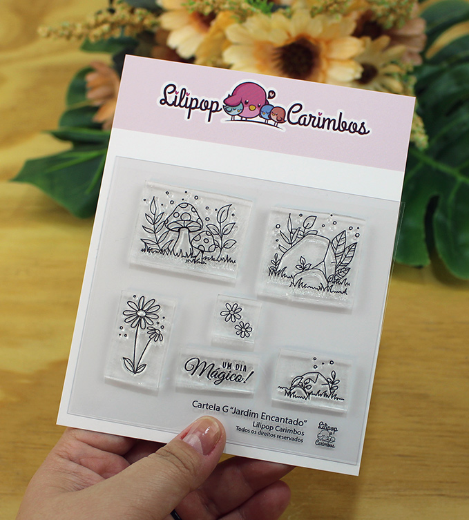 """Cartela de Carimbos G - """"Jardim Encantado"""" - Lilipop Carimbos   - Lilipop carimbos"""