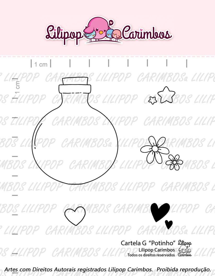 """Cartela de Carimbos G - """"Potinho"""" - Lilipop Carimbos  - Lilipop carimbos"""