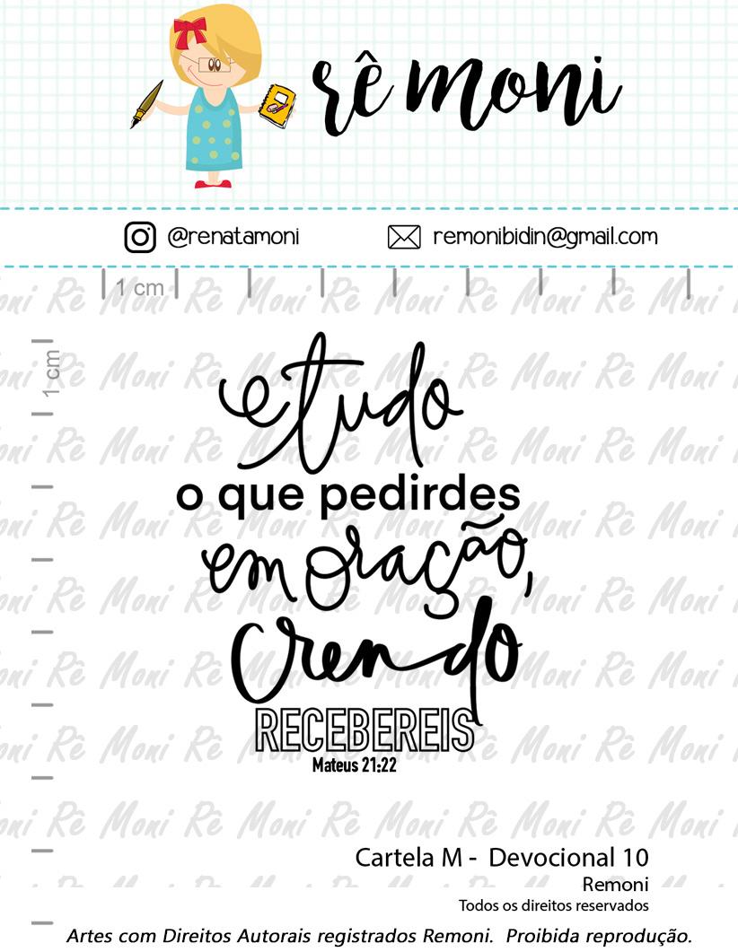 """Cartela de Carimbos M - """"Devocional 10"""" - Remoni  - Lilipop carimbos"""