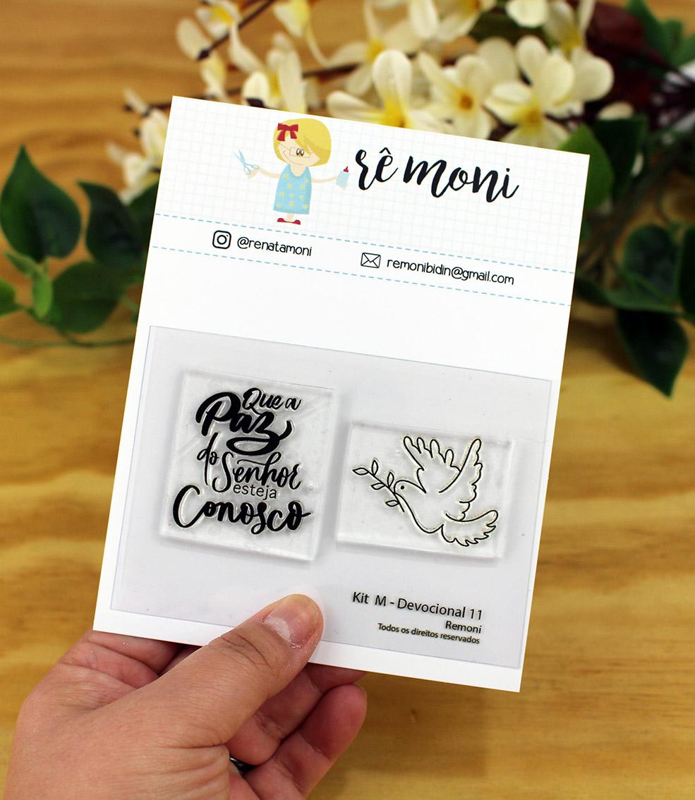 """Cartela de Carimbos M - """"Devocional 11"""" - Remoni  - Lilipop carimbos"""