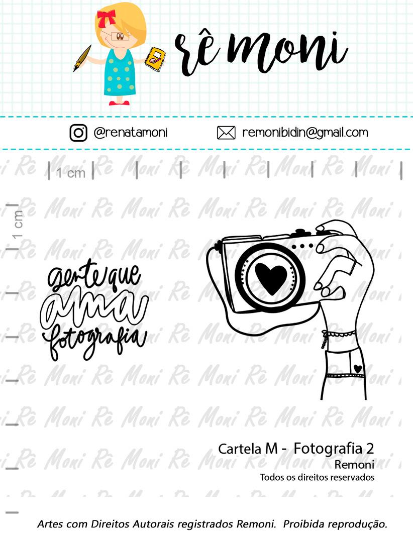 """Cartela de Carimbos M - """"Fotografia 2"""" - Remoni  - Lilipop carimbos"""