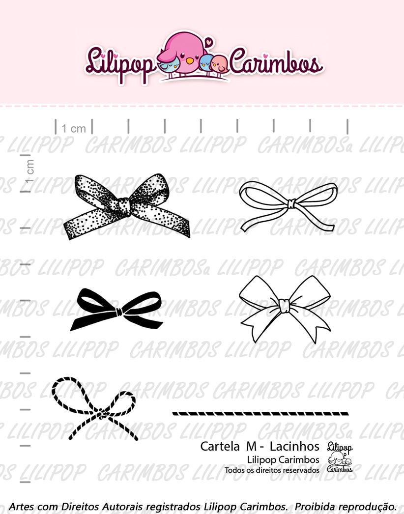 """Cartela de Carimbos M - """"Lacinhos"""" - Lilipop Carimbos  - Lilipop carimbos"""