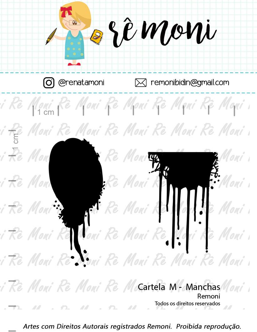 "Cartela de Carimbos M - ""Manchas"" - Remoni  - Lilipop carimbos"