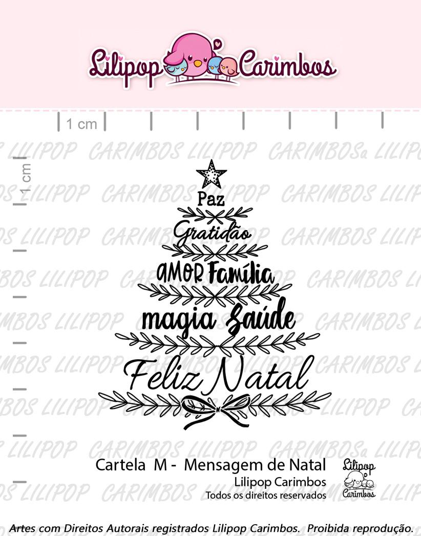 "Cartela de Carimbos M - ""Mensagem de Natal"" - Lilipop Carimbos  - Lilipop carimbos"