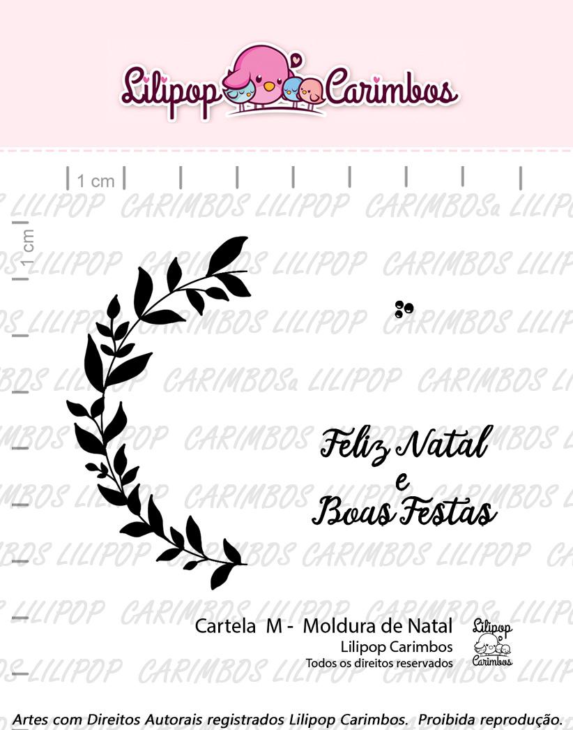 """Cartela de Carimbos M - """"Moldura de Natal"""" - Lilipop Carimbos  - Lilipop carimbos"""