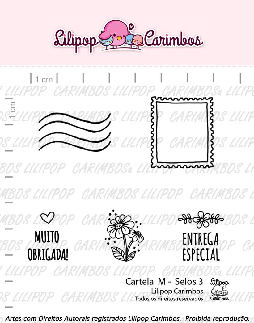 "Cartela de Carimbos M - ""Selos 3"" - Lilipop Carimbos  - Lilipop carimbos"