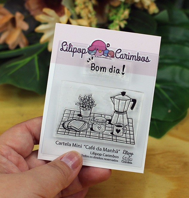 "Cartela de Carimbos Mini - ""Café da Manhã"" - Lilipop Carimbos   - Lilipop carimbos"