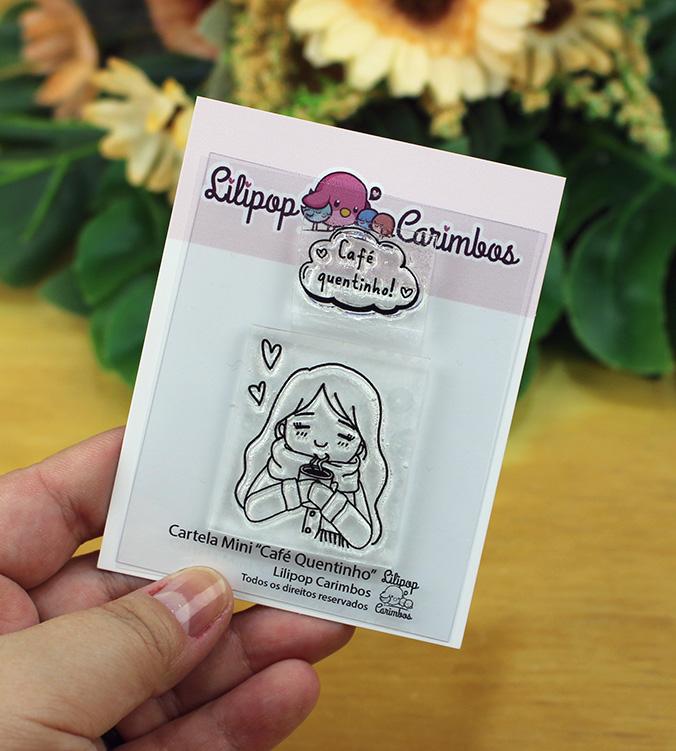"""Cartela de Carimbos Mini - """"Café Quentinho"""" - Lilipop Carimbos  - Lilipop carimbos"""