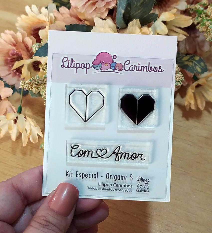 "Cartela de Carimbos Mini Especial - ""Origami 5"" - Lilipop Carimbos   - Lilipop carimbos"