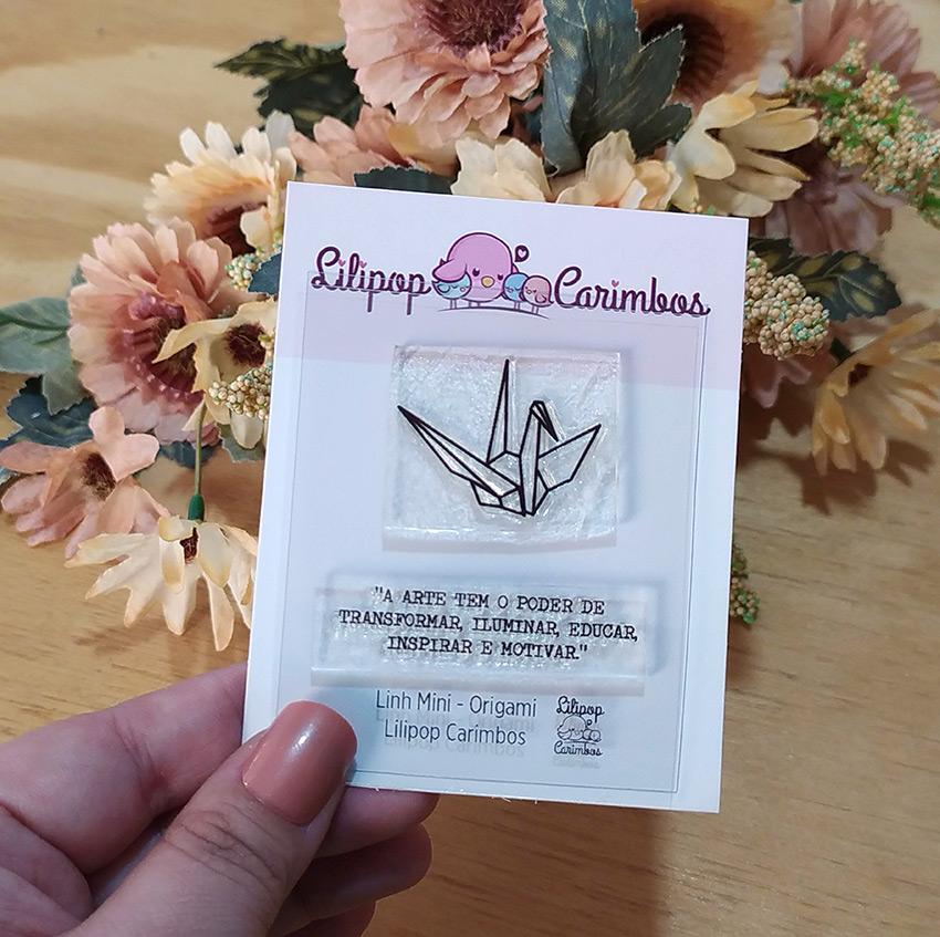 "Cartela de Carimbos Mini Especial - ""Origami"" - Lilipop Carimbos   - Lilipop carimbos"