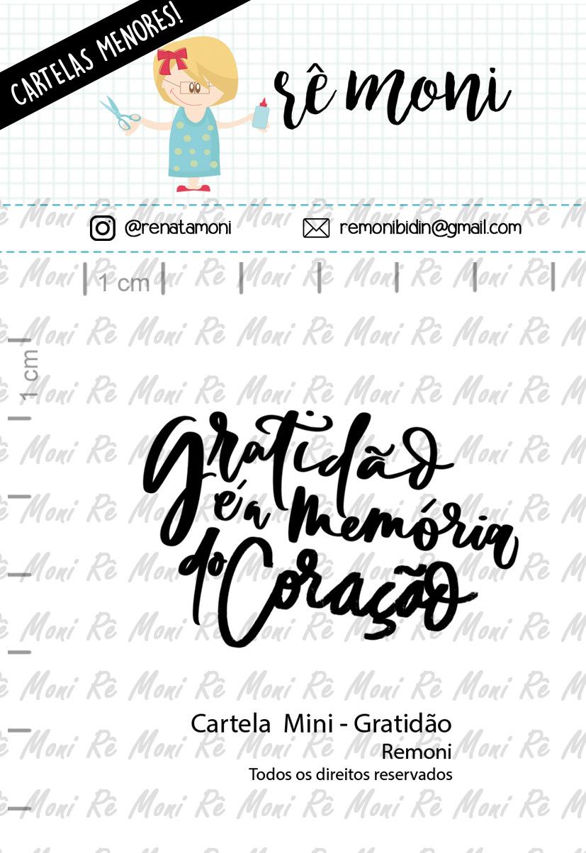 """Cartela de Carimbos Mini - """"Gratidão"""" - Remoni  - Lilipop carimbos"""