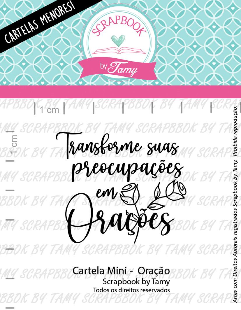 """Cartela de Carimbos Mini - """"Oração"""" - Scrapbook by Tamy  - Lilipop carimbos"""