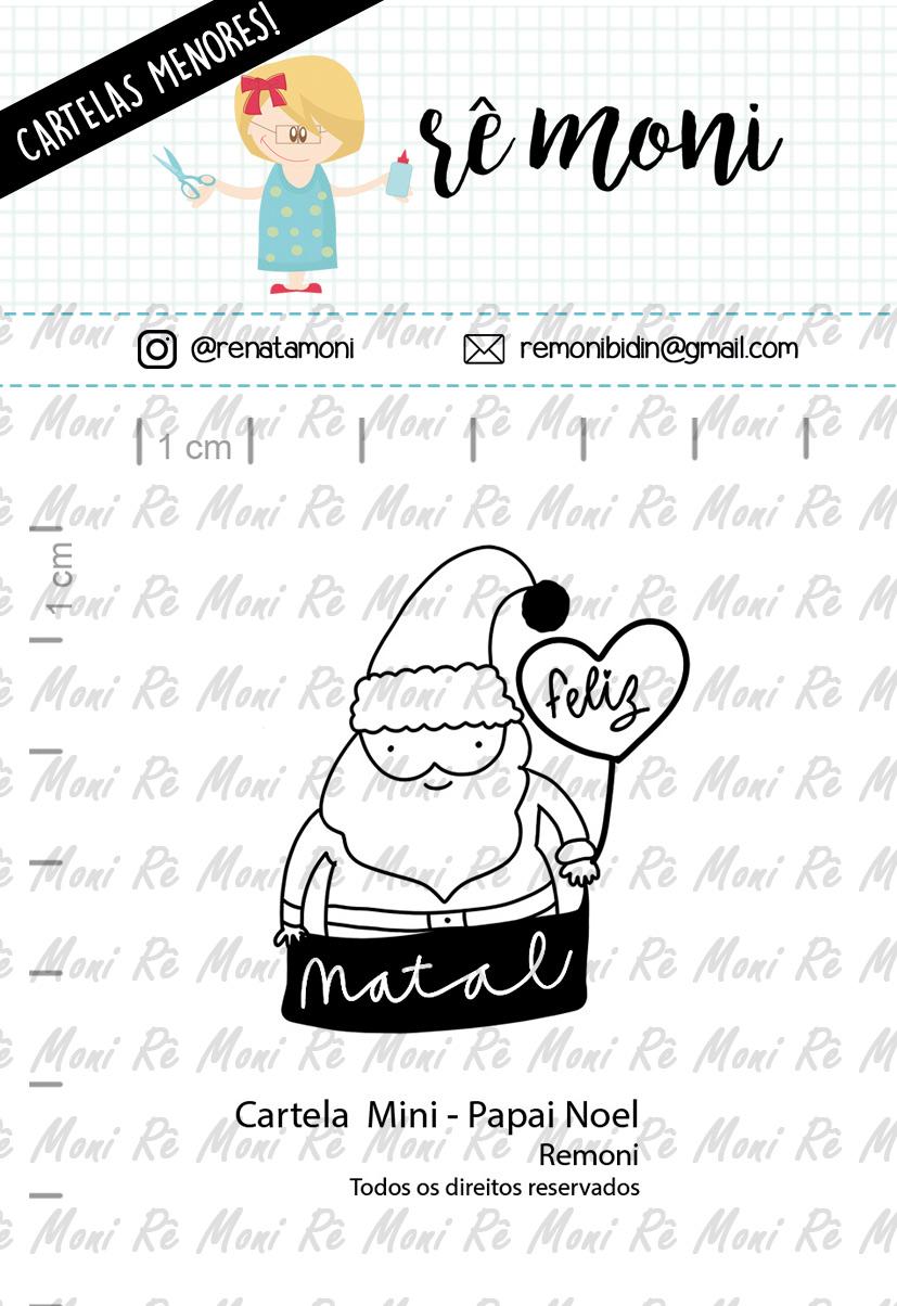 """Cartela de Carimbos Mini - """"Papai Noel"""" - Remoni  - Lilipop carimbos"""