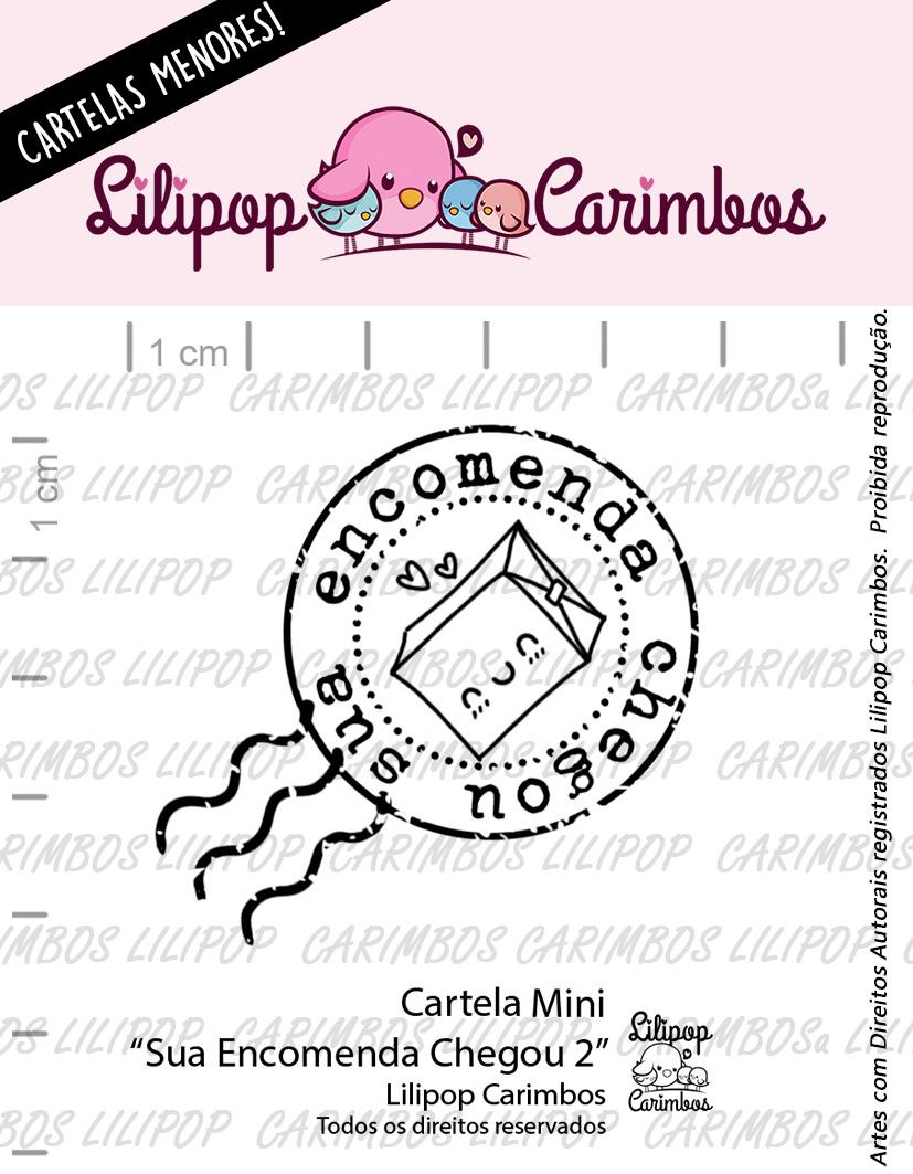 """Cartela de Carimbos Mini - """"Sua encomenda chegou 2"""" - Lilipop Carimbos  - Lilipop carimbos"""