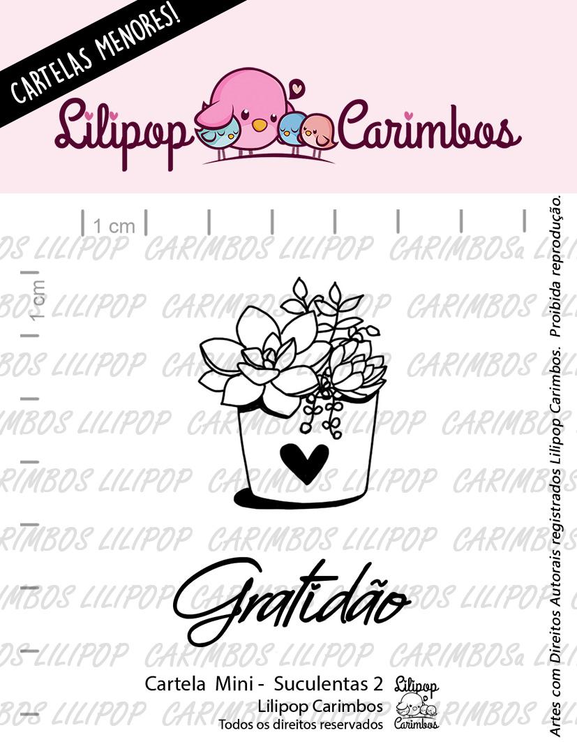 """Cartela de Carimbos Mini - """"Suculentas 2"""" - Lilipop Carimbos  - Lilipop carimbos"""
