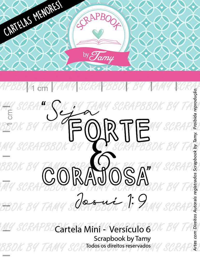 """Cartela de Carimbos Mini - """"Versículo 6"""" - Scrapbook by Tamy  - Lilipop carimbos"""