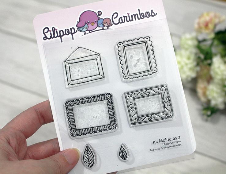 "Cartela de Carimbos - ""Molduras 2"" - Lilipop Carimbos   - Lilipop carimbos"