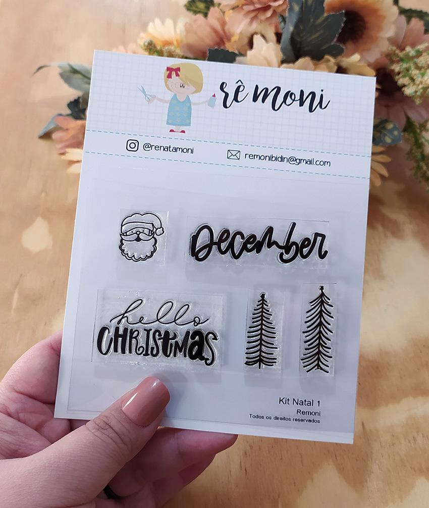 "Cartela de Carimbos - ""Natal 1 - Coleção 2"" - Remoni  - Lilipop carimbos"
