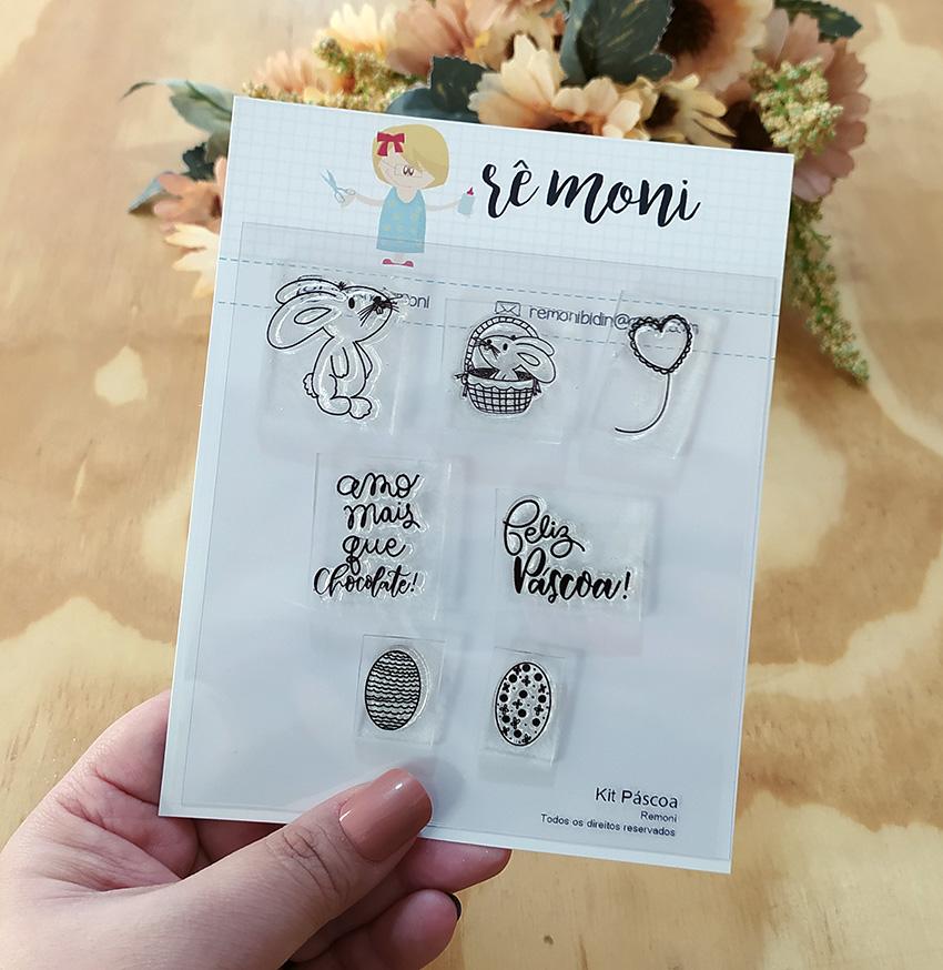 """Cartela de Carimbos - """"Páscoa"""" - Remoni  - Lilipop carimbos"""