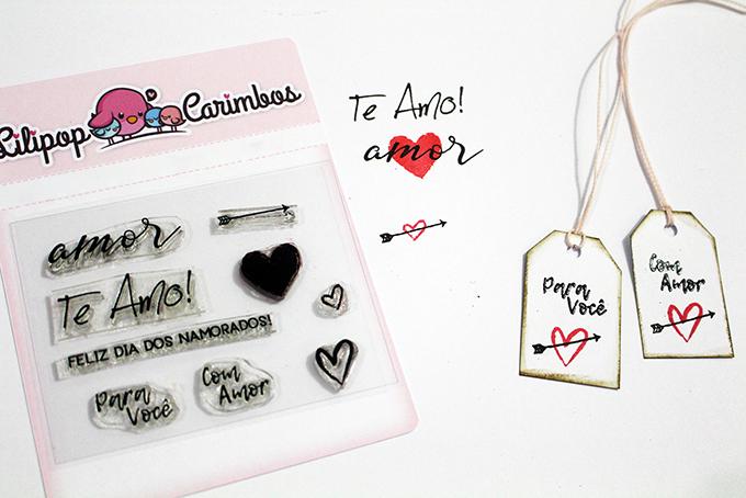 """Cartela de Carimbos - """"Te Amo"""" - Lilipop Carimbos   - Lilipop carimbos"""
