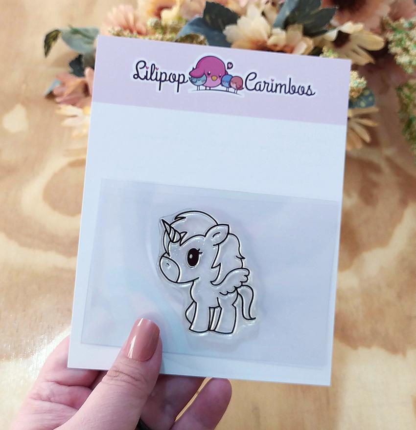 """Cartela de Carimbos - """"Unicórnio"""" - Lilipop Carimbos   - Lilipop carimbos"""