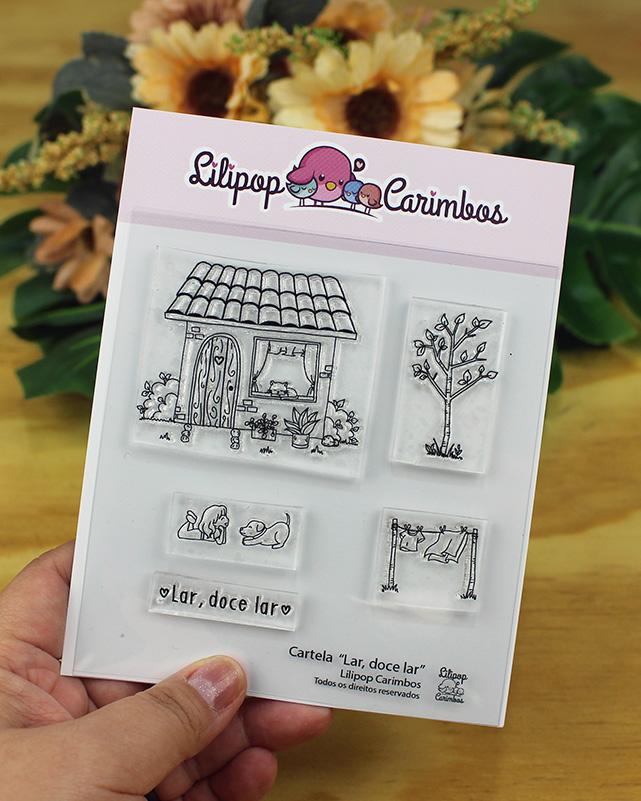 "Cartela de Carimbos XG - ""Lar, doce lar"" - Lilipop Carimbos  - Lilipop carimbos"