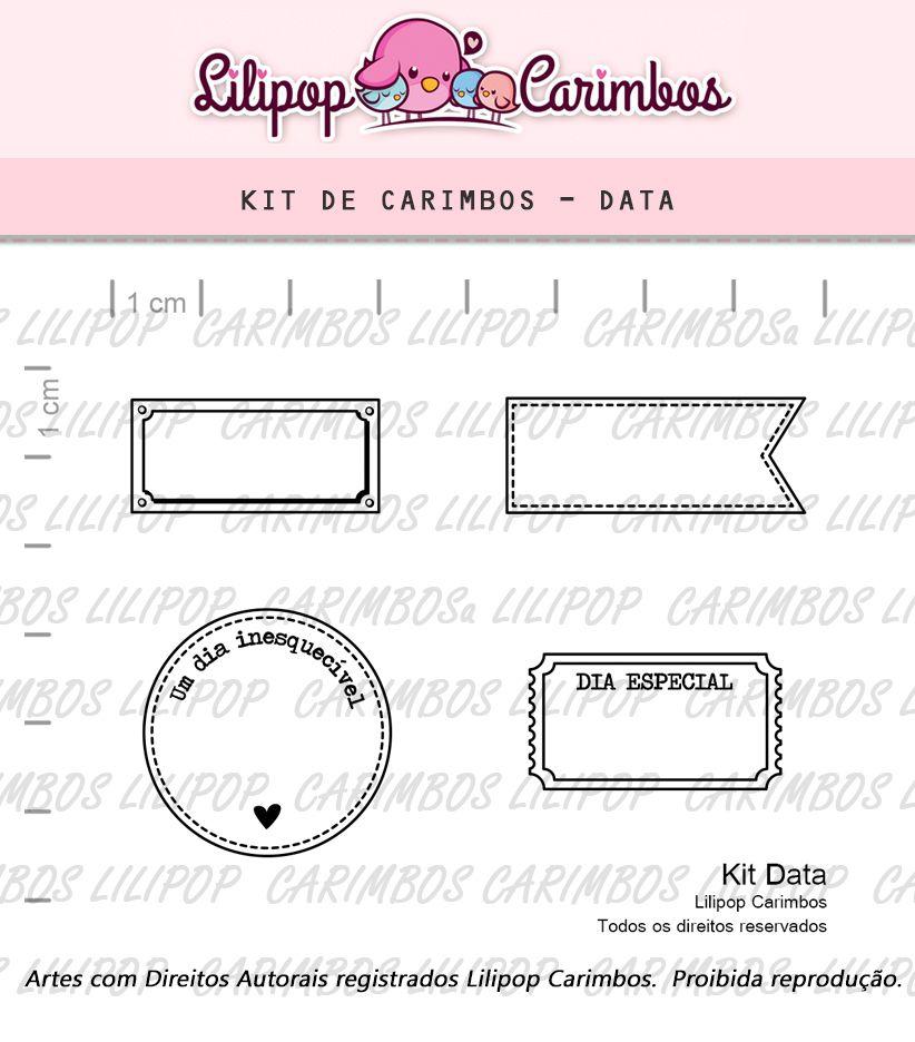 COMBO DATADOR: KIT DE CARIMBOS DATA + DATADOR (edição especial)  LILIPOP CARIMBOS