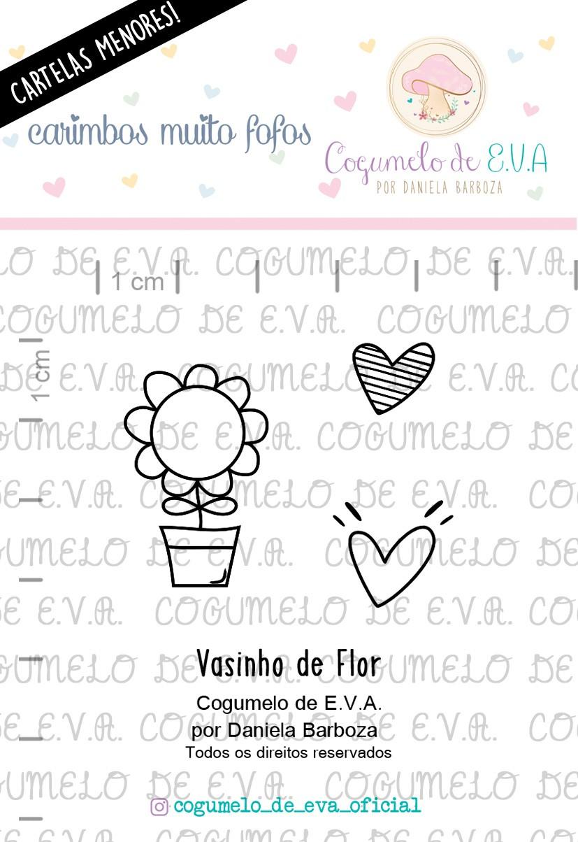 """LINHA MINI - """"Vasinho de Flor""""   Cogumelo de E.V.A."""