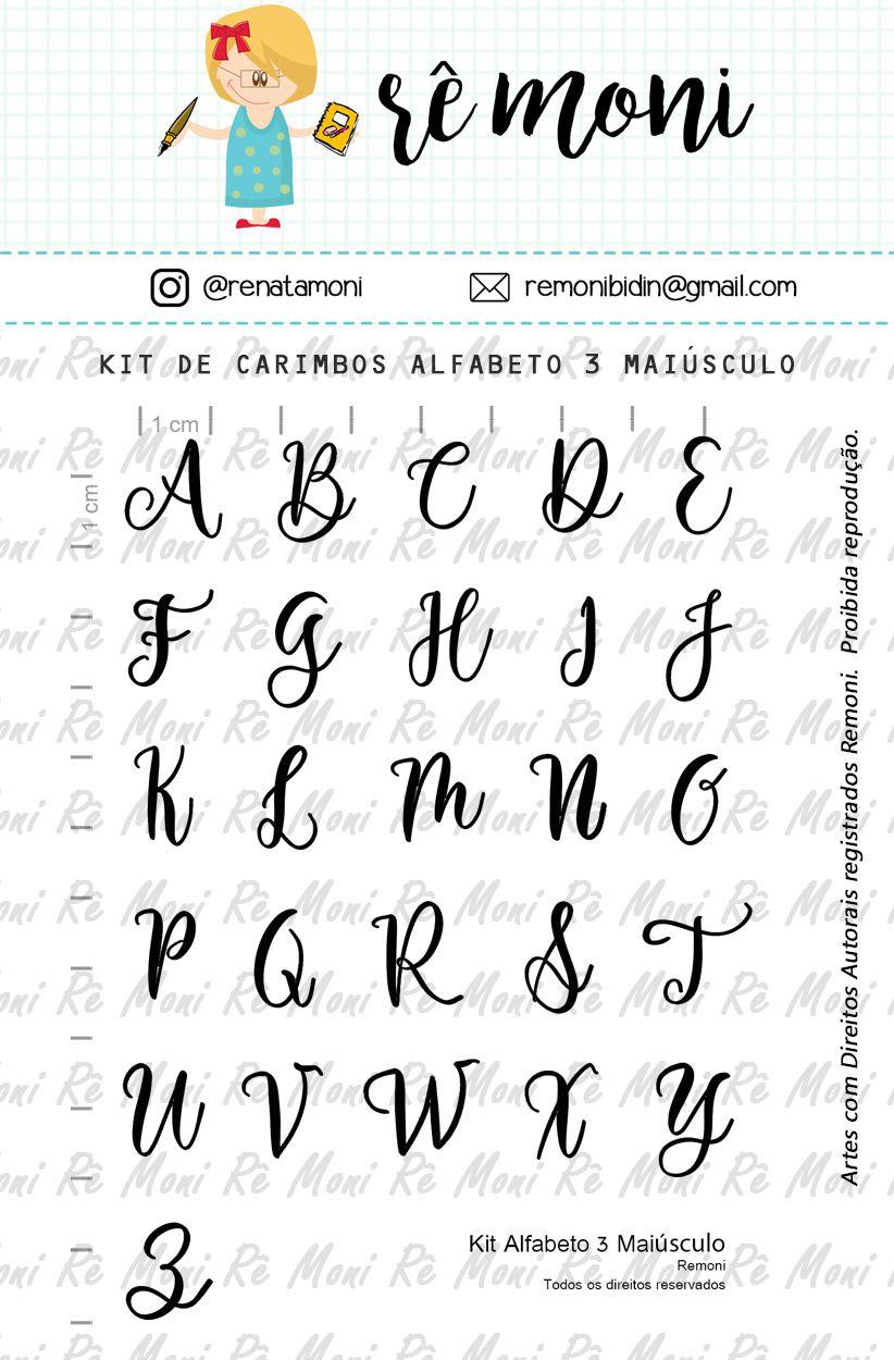 Kit de Carimbos - Alfabeto 3 Maiúsculo  - Remoni