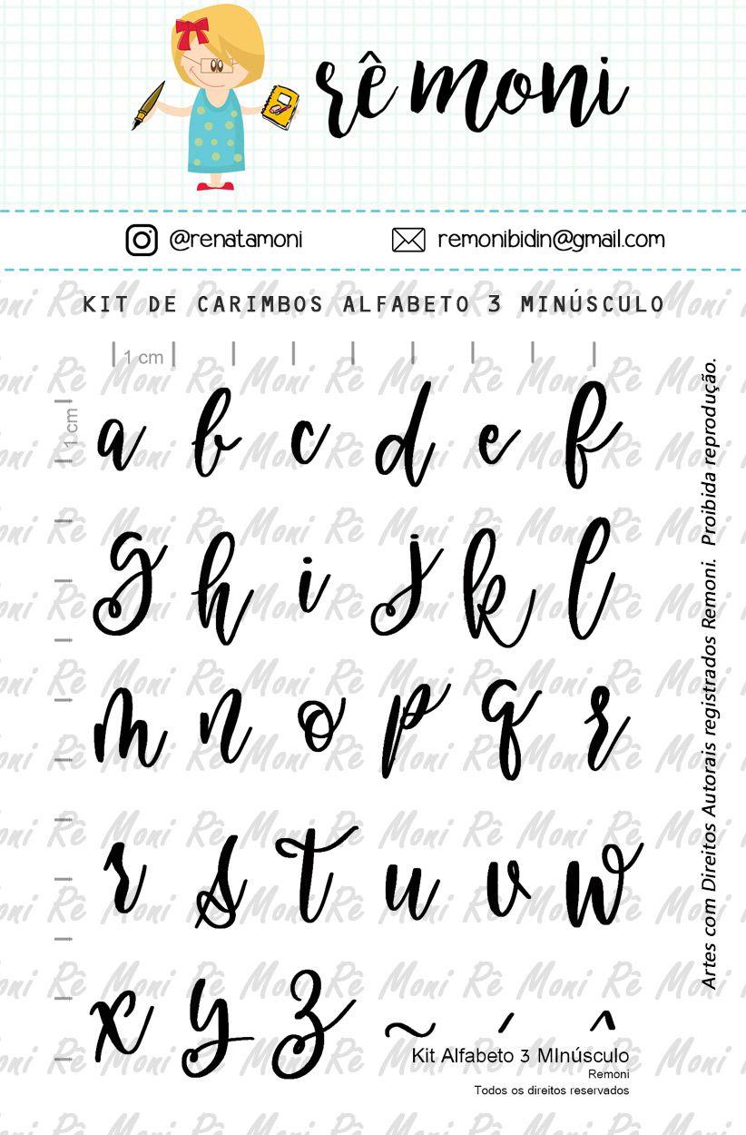 Kit de Carimbos - Alfabeto 3 Minúsculo - Remoni