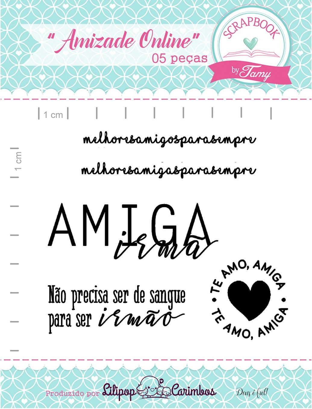 Kit de Carimbos - Amizade Online - Scrapbook by Tamy