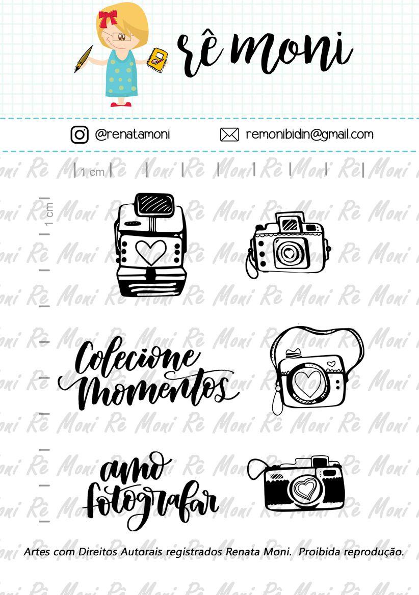 Kit de Carimbos - Câmeras Retrô  - Remoni