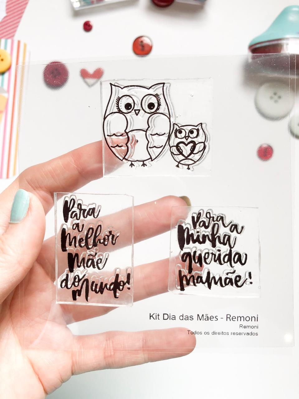 Kit de Carimbos - Dia das Mães  - Remoni