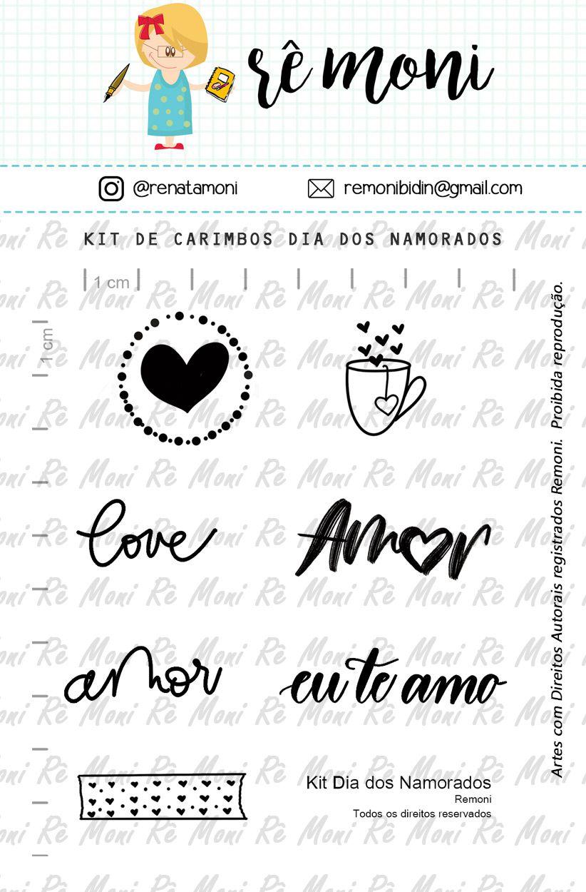 Kit de Carimbos - Dia dos Namorados - Remoni