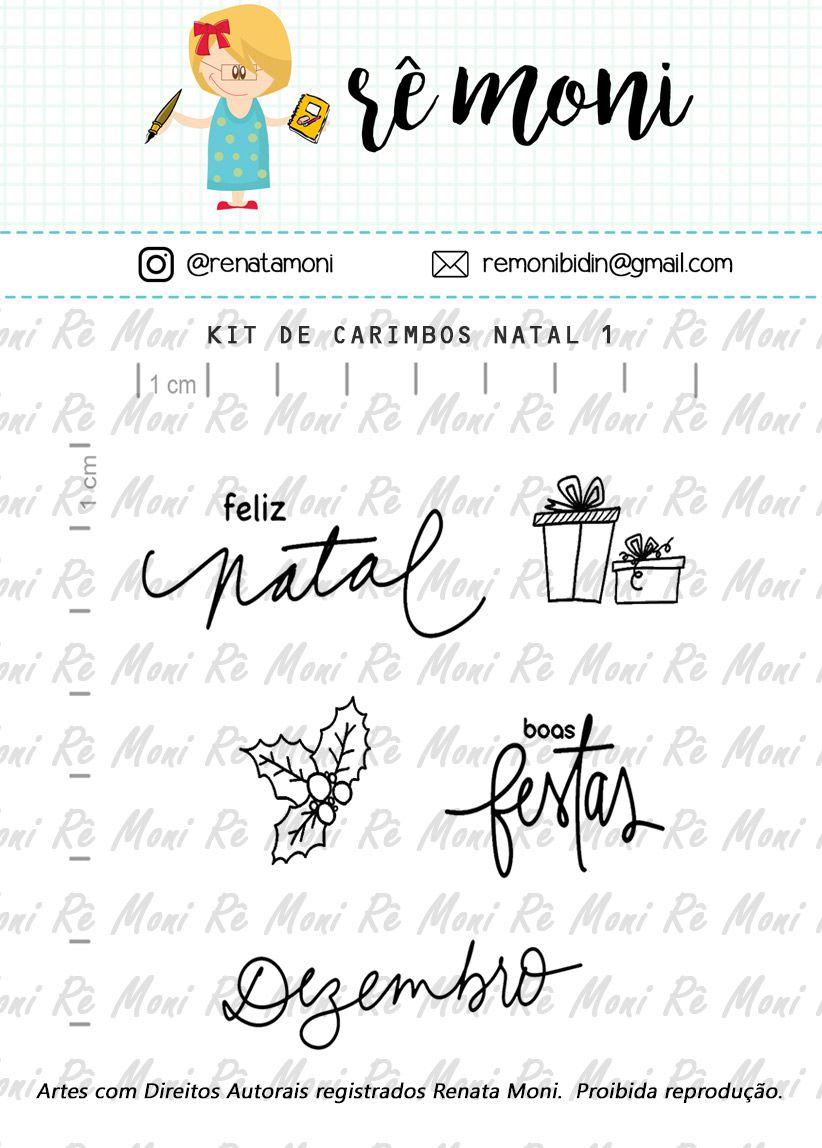 Kit de Carimbos - Natal 1 - Remoni
