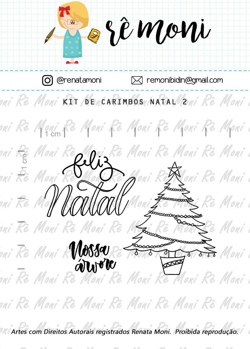 Kit de Carimbos - Natal 2  - Remoni
