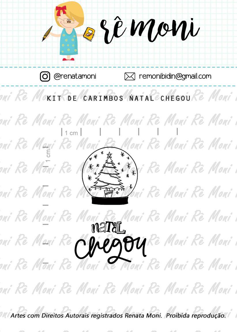 Kit de Carimbo - Natal Chegou