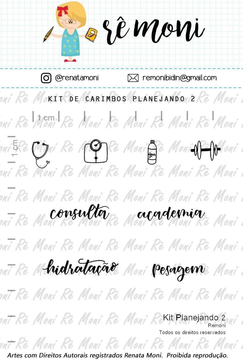 Kit de Carimbos - Planejando 2 - Remoni
