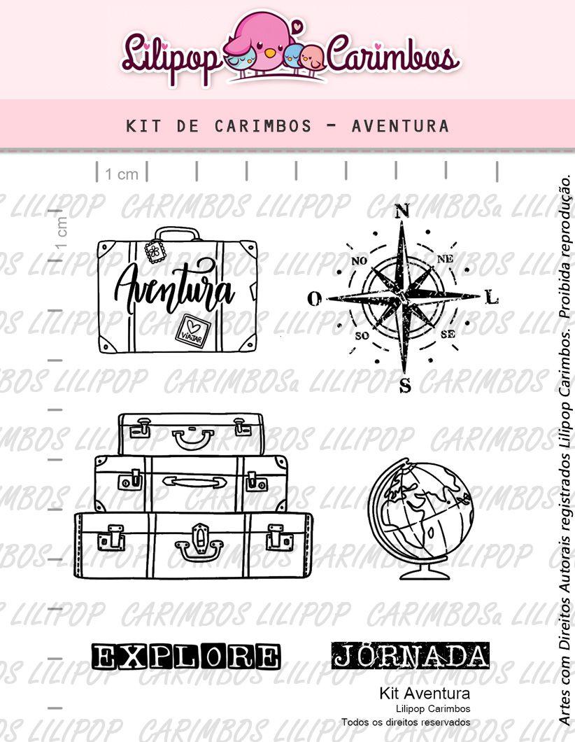Kit  de Carimbos - Aventura  LILIPOP CARIMBOS