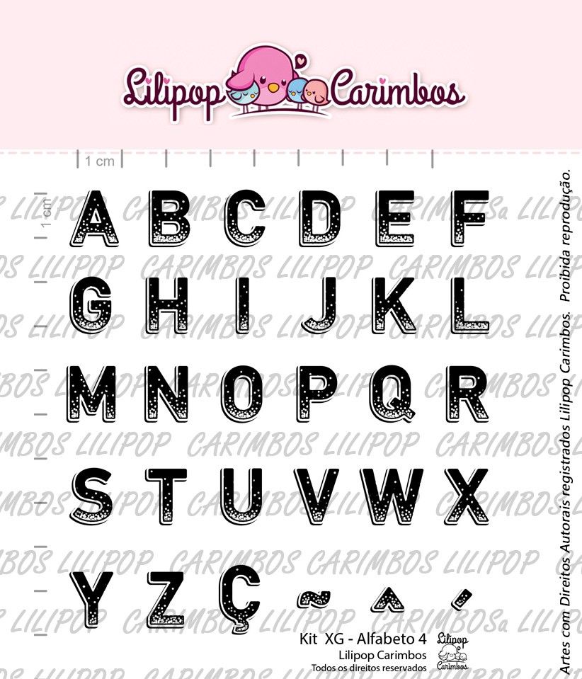 Kit de Carimbos - Alfabeto 4 (LILIPOP CARIMBOS)