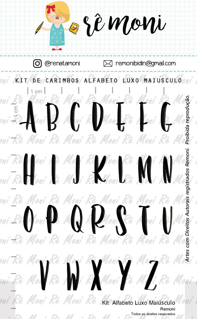 Kit de Carimbos - Alfabeto Luxo Maiúsculo - Remoni