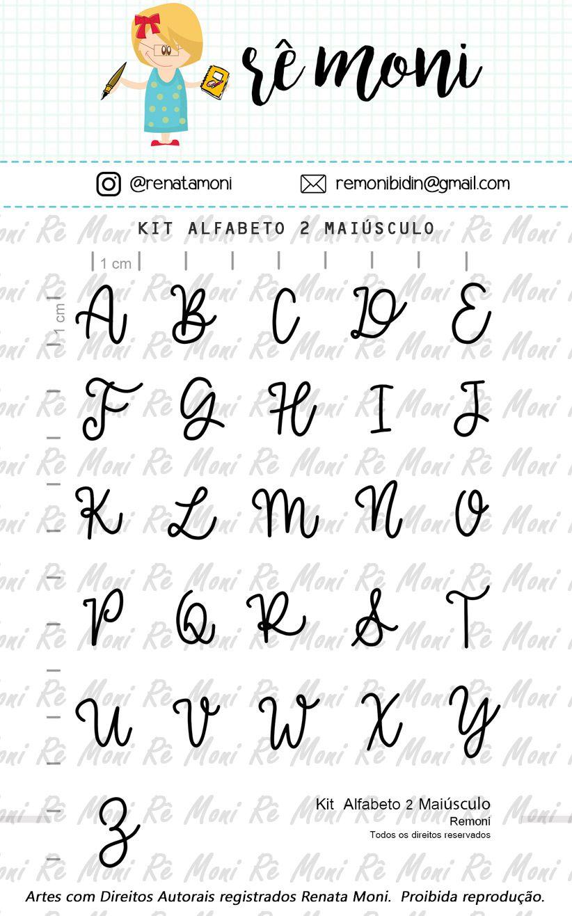 """Cartela de Carimbos - """"Alfabeto 2 Maiúsculo"""" - Remoni   - Lilipop carimbos"""