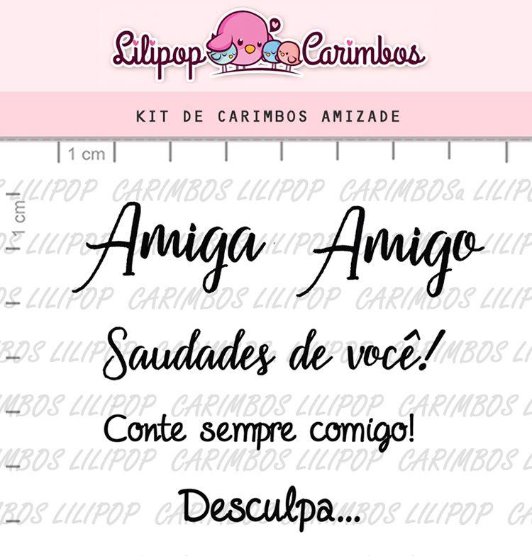 Kit de Carimbos - Amizade