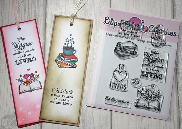 Kit de Carimbos - Amo Livro