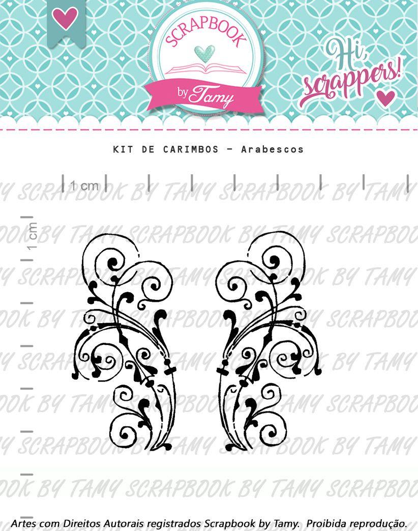 Kit de Carimbos - Arabescos  - Scrapbook by Tamy
