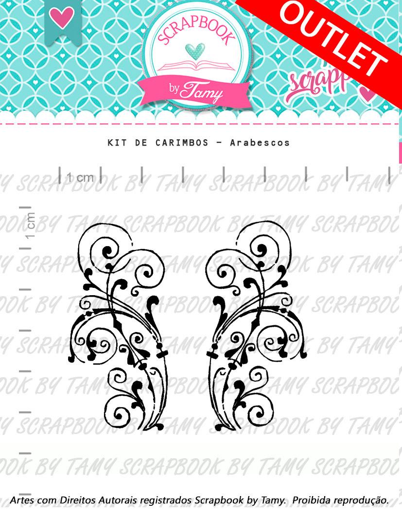 "Cartela de Carimbos - ""Arabescos"" - Scrapbook by Tamy  - Lilipop carimbos"